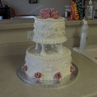 Vow Renewal Cake With Gumpaste Flowers This cake was for my in-laws' vow renewal. It is white cake with lemon filling and cream cheese icing. The flowers are gumpaste. There...