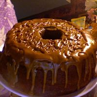 Caramel Rum Cake butter-rum flavored pound cake topped with homemade caramel icing.