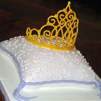 Pillow Cake With Gumpaste Tiara