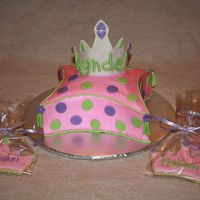 Princess Cake Princess cake and cookies.