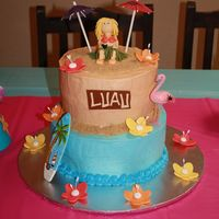 Let's Luau! I loved this cake! It was so fun! Another joint effort between me and my cousin-in-law. She did all the baking and icing making and I did...