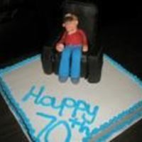 Happy 70Th Grump   this was done for a man who loves his smokes and cocktails. The figure even leans in his chair just like him.
