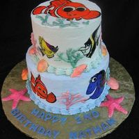 Finding Nemo   Chocolate Strawberry Cake w/ rice paper and white chocolate decor