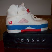 Jordans My first carved sneaker and shoe box. The 13 yr. old boy was absolutely speechless.