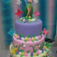 Tinkerbell Tinkerbell is not edible... made of ceramics the rest are all Fondant