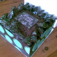 Chocolate Birthday Cake All chocolate work. Borrowed ideas from CC!! Picture is not the best!