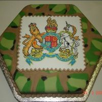 Camo Cake With Plaque This is the cake with the plaque on.