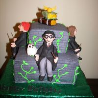 Harry Potter Birthday Cake I made this cake for my daughter's ninth birthday. Vanilla cake with vanilla butter cream (boring but it's what she wanted!)...