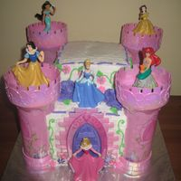 Disney Princess Castle Strawberry cake with vanilla BC. The photoframe is will be added by the client.