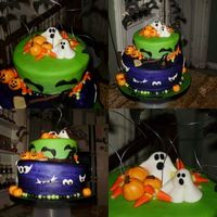 Halloween Birthday Cake  Originally the cake was supposed to be a princess cake, but at the last minute the Mom wanted to change the cake for a Halloween Birthday...