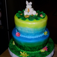 Easter Cake Hand painted w/fondant decor.