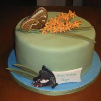 Butterflies And Cake  My client wanted me to design a birthday cake based on a picture that they had taken at the butterfly museum so this is what I came up with...