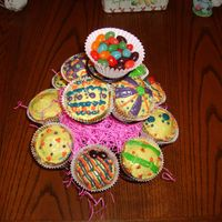 Easter Cupcakes   Carrot cake cupcakes with cream cheese frosting.