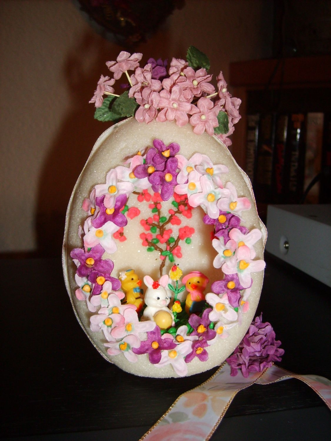 Sugar Egg  My first sugar egg. I started this egg 13 years ago before I knew what I was doing. I sealed the 2 halves together so I had to decorate the...