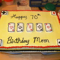 My Mom 70Th Birthday Cake