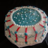 4Th Of July Cake  This is a 4th of July Cake I made for friends. It's not quite good enough for the contest, but I thought I would upload to the gallery...