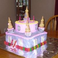Castle Cake I made this cake for a friend of mine's 4 year old daughter.. SHE LOVED IT..