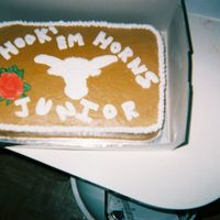 Longhorns Hook Em Horns I made this cake right after the longhorns won the Rose Bowl. All made of BC.