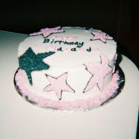 "Stars Black And Pink This was a cake i made for a ""Hollywood"" themed birthday party. made out of bc"