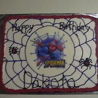 Spider Man For this cake i used an edible image for the spiderman image the rest is BC icing. My son LOVED it!
