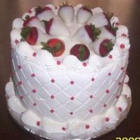 Chocolate Cover Stawberry Cake white buttercream with white chocolate cover stawberry