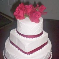 Red Rose Wedding Cake three tier wedding cake