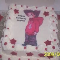 Boondock Cake For A 10 Year Old This is a chocolate cake with buttercream cing with mmf(stars) on the cake and board.