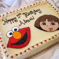 121655.jpg Elmo/Dora combination buttercream transfer