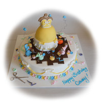 Cinderella Cake Took inspiration from several different versions of this cake here on CC! Thank you all for the fantastic ideas! The little girl it was for...