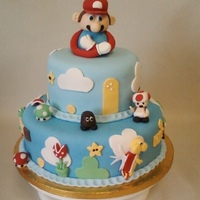 Super Mario Bros. Birthday This was for a little boys birthday! Everything was made with fondant.