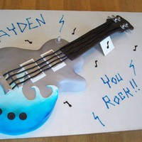 "Birthday Guitar ""you Rock!"""