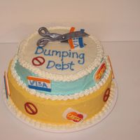 Financial Peace University - Dumping Debt Cake This cake is a collaboration with my friend mkm1205, we've been taking the Wilton class together as well as facilitating Dave Ramsey&#...