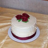 My Sad Tier/tear This was supposed to be the top tier of my brothers wedding cake but I had massive problems with the bottom cake. The cake had a buldge...