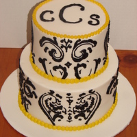 Patterned Initial Cake