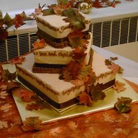 Autumn Wedding   leaves were fondant and dusted by hand and placed on the cake when we delivered it. i had a lot of fun with this one