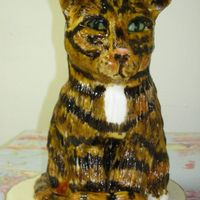 Tiger Cub not my best work but my first time painting fondant. It looked better without color but everyone has to start somewhere. Inspired by Lindy...