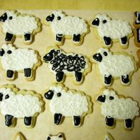 Yorkshire Dale Sheep Cookies This was my first foray into decorated cookies. Where do the cookie mavens find the time or the energy for this. I lost momentum early on....