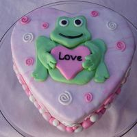 Valentine's Day Frog My 3 year old requested Spiderman on his Valentine's Day Cake for Daycare...but settled on a frog :)