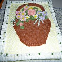 Get Well Cake Chocolate cake with B/C icing and RI flowers..got the idea from luvtodecorate...thank you.