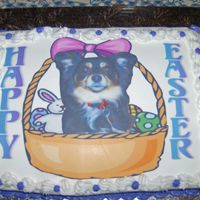 Dog In Basket/frosting Sheet Frosting Sheet on Devils food with BC
