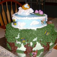 Fairy Garden Cake Back Marble cake w B/C icing and fondant and B/C decorations