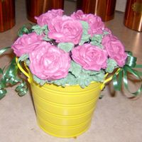 Rose Bouquet Pot Chocolate cupcakes w B/C