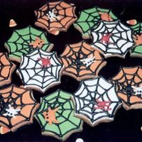 Halloween Cookies - Spiderwebs