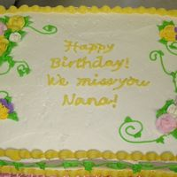 Maddy.jpg I made this cake on very short notice ( 3 hours ). The cake was for a Grandma who passed away. They were having a birthday party for her. I...