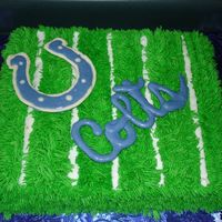 Super Bowl Cake I MADE THIS CAKE FOR MY DH FOR THE SUPERBOWL.