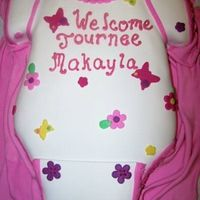 Baby Onesie Carved from an 11 x 15. Covered with fondant. TFL!