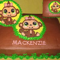 Monkey Here is LPS monkey...had fun with one. First time making choco bc...Let me know what you think...Cake weekend 2 of 6