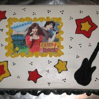 Camp Rock Very popular here, this is what I came up with...let me know what you think...Cake weekend 5 of 6