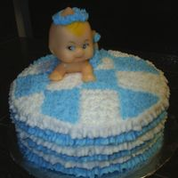 "Baby Shower It's a boy 8"" Round Cake, buttercream icing."
