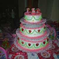 Strawberry Shortcake Birthday Cake Strawberry Shortcake Birthday Cake, for my 3 years old niece party.Whipped cream with strawberries.Pineapple and Strawberry filling, the...